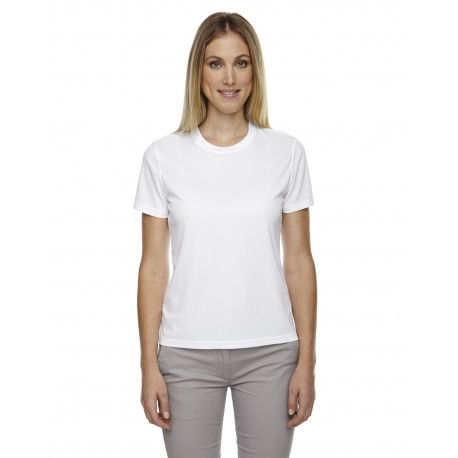 78182 Core 365 78182 Ladies' Pace Performance Pique Crewneck WHITE 701