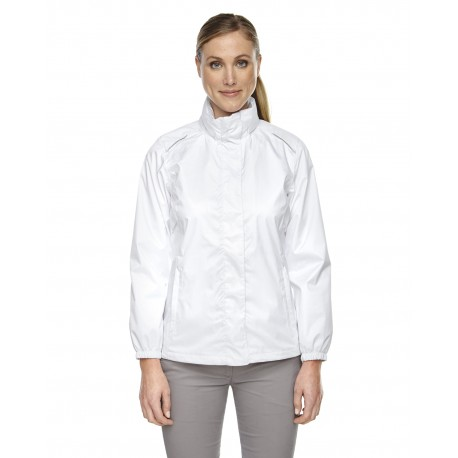 78185 Core 365 78185 Ladies' Climate Seam-Sealed Lightweight Variegated Ripstop Jacket WHITE 701