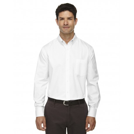 88193T Core 365 88193T Men's Tall Operate Long-Sleeve Twill Shirt WHITE 701