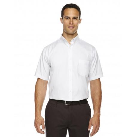 88194T Core 365 88194T Men's Tall Optimum Short-Sleeve Twill Shirt WHITE 701