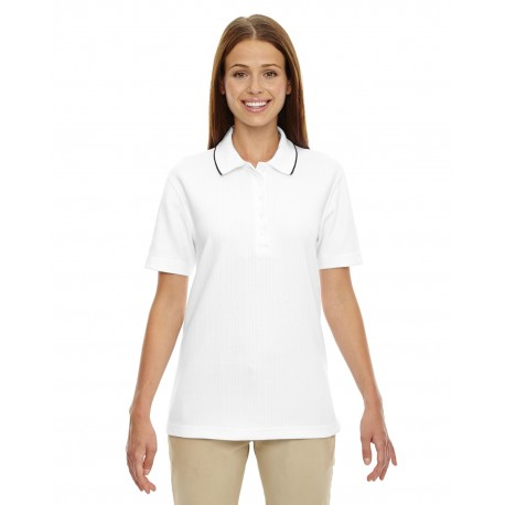 75045 Extreme 75045 Ladies' Edry Needle-Out Interlock Polo WHITE 701