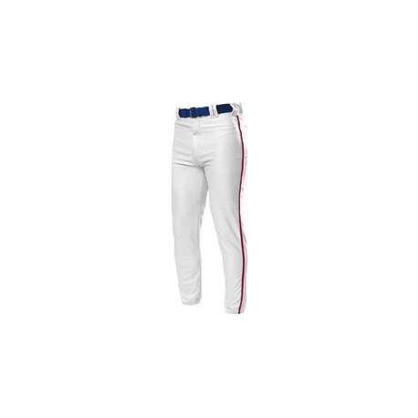 NB6178 A4 NB6178 Youth Pro Style Elastic Bottom Baseball Pants WHITE/CARDINAL
