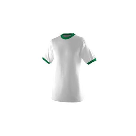 711 Augusta Sportswear 711 Youth Ringer T-Shirt WHITE/KELLY