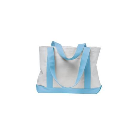 7002 Liberty Bags 7002 P & O Cruiser Tote WHITE/LT BLUE