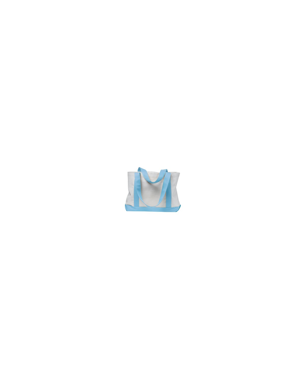 7002 Liberty Bags WHITE/LT BLUE
