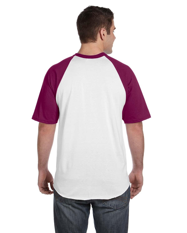 423 Augusta Sportswear WHITE/MAROON