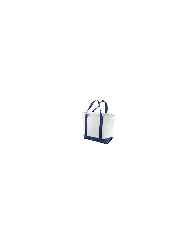 7006 Liberty Bags WHITE/NAVY