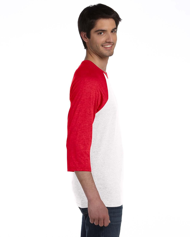 3200 Bella + Canvas WHITE/RED