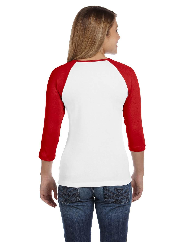 B2000 Bella + Canvas WHITE/RED