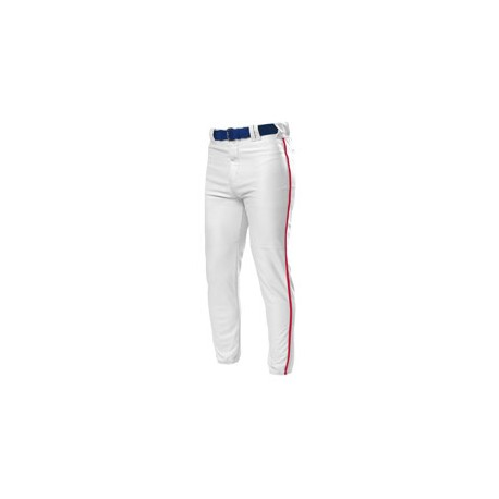 N6178 A4 N6178 Pro Style Elastic Bottom Baseball Pants WHITE/SCARLET