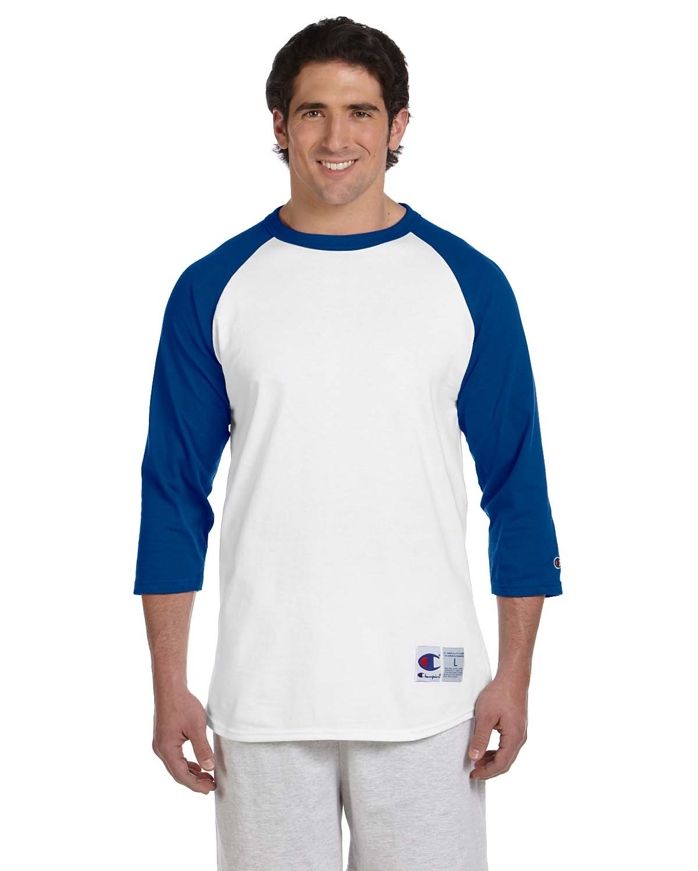 T1397 Champion WHITE/TEAM BLUE