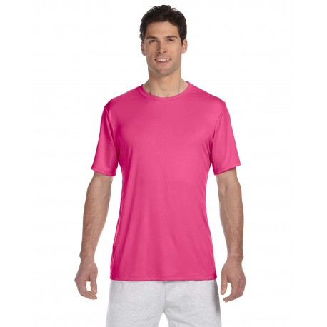 4820 Hanes 4820 Adult Cool DRI with FreshIQ T-Shirt WOW PINK