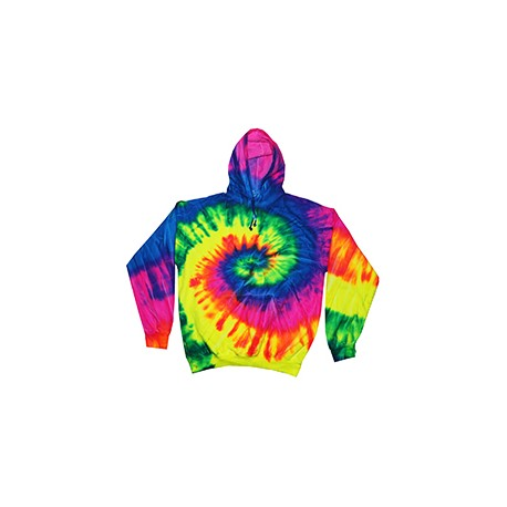 CD877Y Tie-Dye CD877Y Youth 8.5 oz. Tie-Dyed Pullover Hood NEON RAINBOW