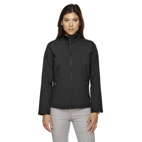 78184 Core 365 78184 Ladies' Cruise Two-Layer Fleece Bonded Soft Shell Jacket BLACK 703