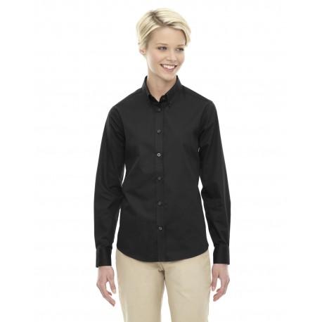78193 Core 365 78193 Ladies' Operate Long-Sleeve Twill Shirt BLACK 703