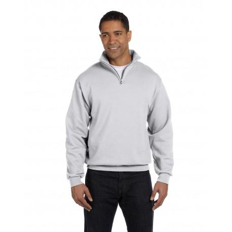 995M Jerzees 995M Adult 8 oz. NuBlend Quarter-Zip Cadet Collar Sweatshirt ASH