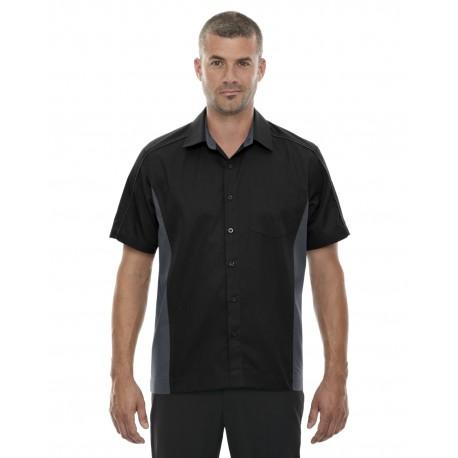 87042 North End 87042 Men's Fuse Colorblock Twill Shirt BLACK 703