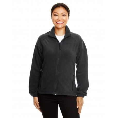 78025 North End 78025 Ladies' Microfleece Unlined Jacket BLACK 703