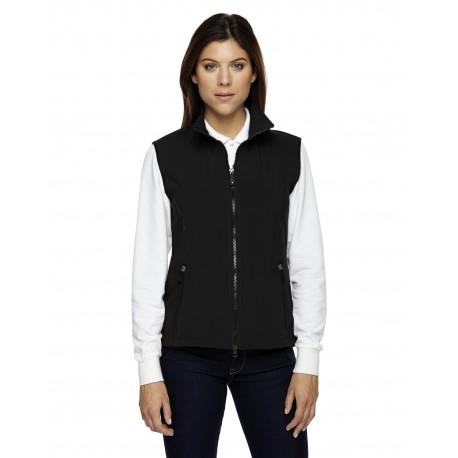78050 North End 78050 Ladies' Three-Layer Light Bonded Performance Soft Shell Vest BLACK 703