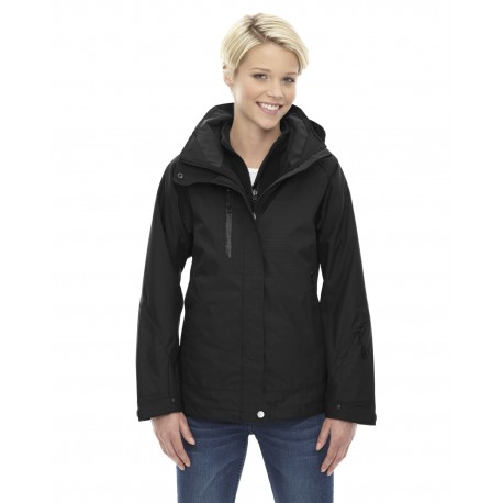 78178 North End 78178 Ladies' Caprice 3-in-1 Jacket with Soft Shell Liner BLACK 703