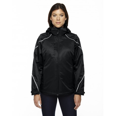 78196 North End 78196 Ladies' Angle 3-in-1 Jacket with Bonded Fleece Liner BLACK 703