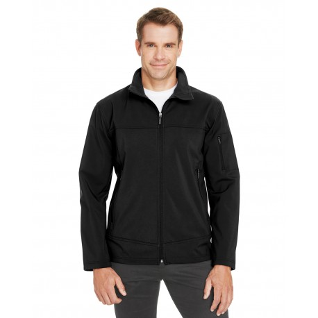 88099 North End 88099 Men's Three-Layer Fleece Bonded Performance Soft Shell Jacket BLACK 703