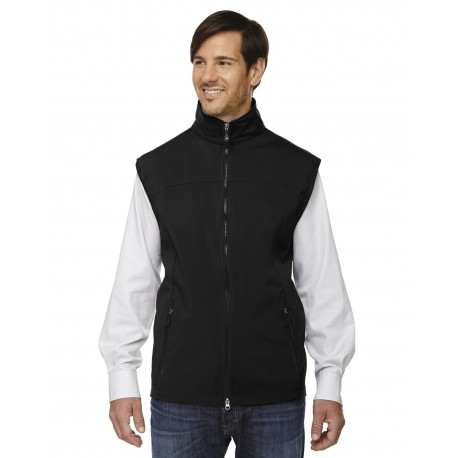 88127 North End 88127 Men's Three-Layer Light Bonded Performance Soft Shell Vest BLACK 703