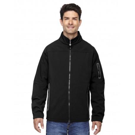 88138 North End 88138 Men's Three-Layer Fleece Bonded Soft Shell Technical Jacket BLACK 703