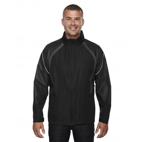88168 North End 88168 Men's Sirius Lightweight Jacket with Embossed Print BLACK 703