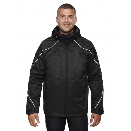 88196 North End 88196 Men's Angle 3-in-1 Jacket with Bonded Fleece Liner BLACK 703