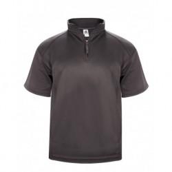 Badger 1482 Poly Fleece Short Sleeve Quarter-Zip