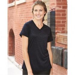 Badger 4362 Pro Women's Heather V-Neck T-Shirt