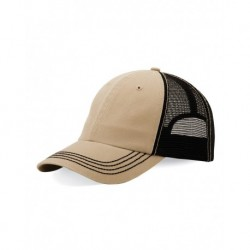 Mega Cap 6894 Washed Twill Trucker Cap