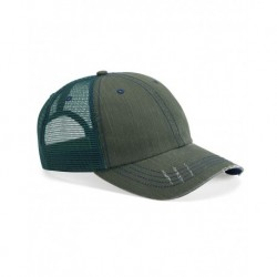 Mega Cap 6990 Herringbone Unstructured Trucker Cap