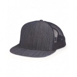 Mega Cap 6997B Flat Bill Six-Panel Trucker Cap
