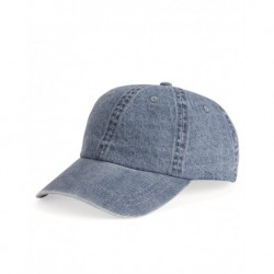 Mega Cap 7610 Washed Denim Cap