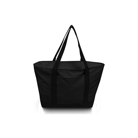 7006 Liberty Bags 7006 Bay View Giant Zippered Boat Tote BLACK/BLACK