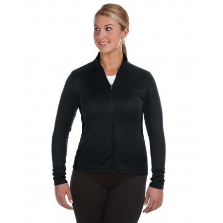 S260 Champion S260 Ladies' 5.4 oz. Performance Fleece Full-Zip Jacket BLACK/BLACK