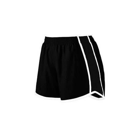 1266 Augusta Sportswear 1266 Girls' Pulse Team Short BLACK/BLK/WHT