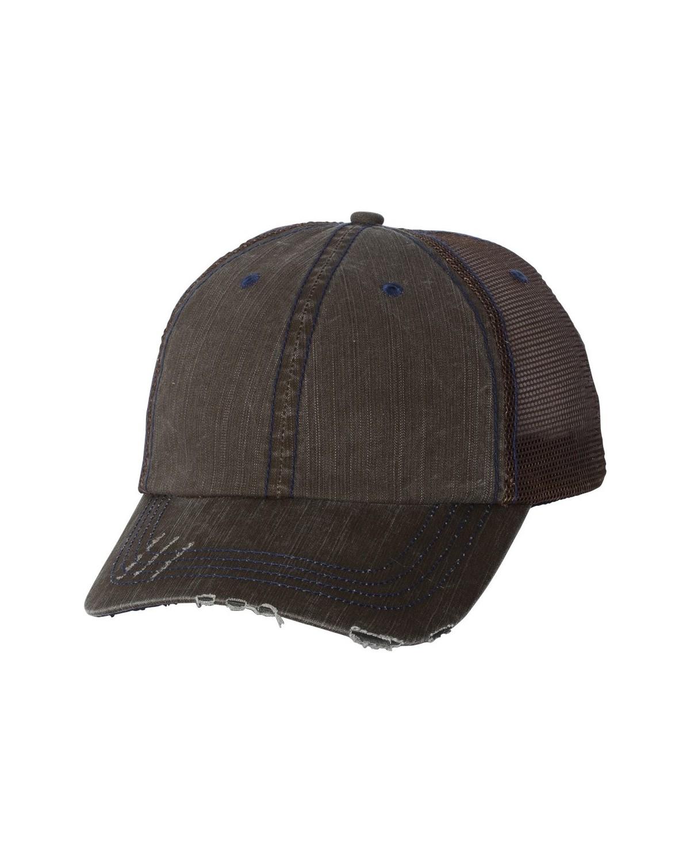 6990 Mega Cap Brown/ Navy