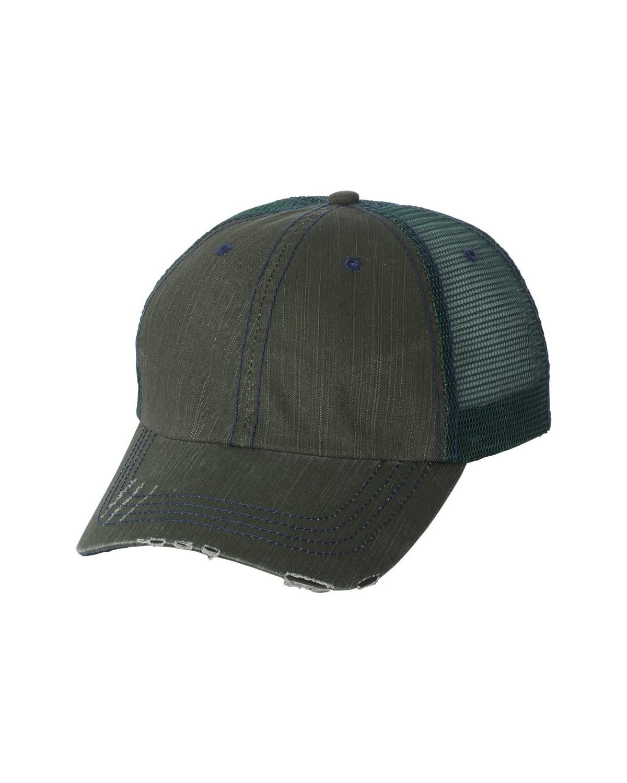 6990 Mega Cap Dark Green/ Navy