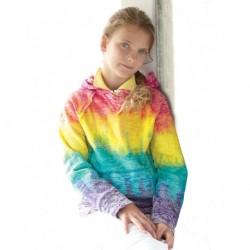 MV Sport W1162Y Girls Courtney V-Notch Sweatshirt