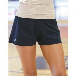 Russell Athletic 64BTTX Essential Jersey Womens 3 Inseam Shorts