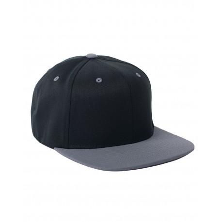 110FT Flexfit 110FT Adult Wool Blend Snapback Two-Tone Cap BLACK/GREY
