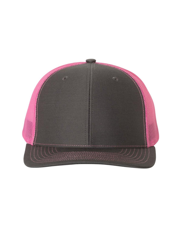 112 Richardson Charcoal/ Neon Pink