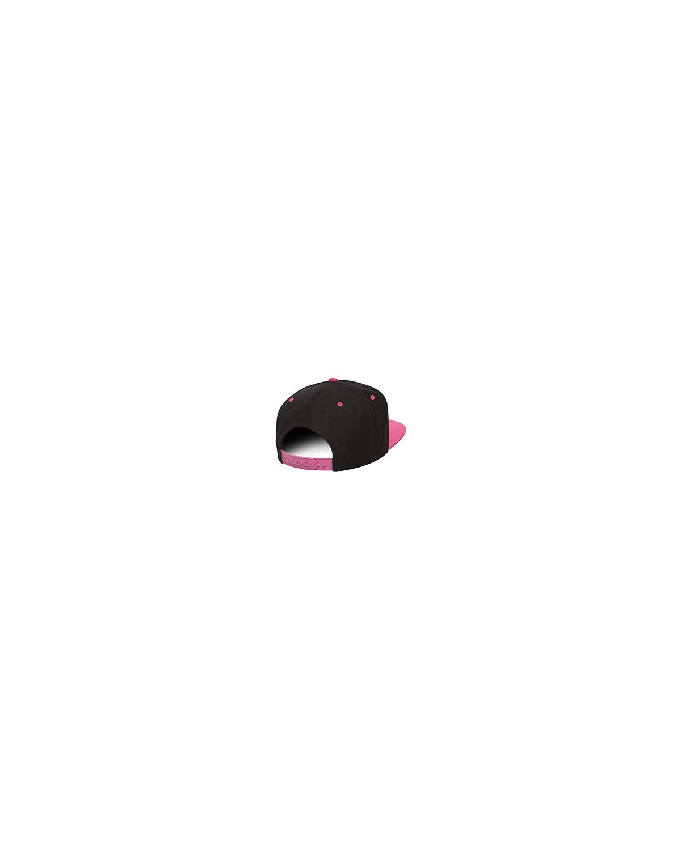 6089 Yupoong BLACK/NEON PINK