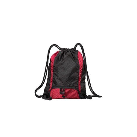 8890 Liberty Bags 8890 Santa Cruz Drawstring Backpack BLACK/RED
