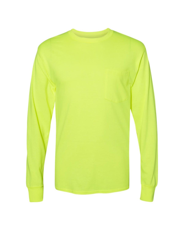 8c977dd2 Hanes W120 Workwear Long Sleeve Pocket T-Shirt ...