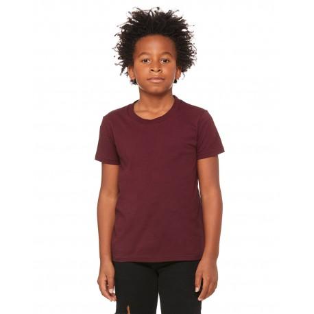 3001Y Bella + Canvas 3001Y Youth Jersey Short-Sleeve T-Shirt MAROON