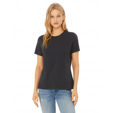 B6400 Bella + Canvas B6400 Ladies' Relaxed Jersey Short-Sleeve T-Shirt DARK GREY